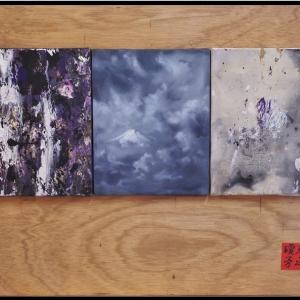 富士山を作品化 日本神話・天地開闢のイメージで。