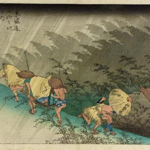 雨の表現 浮世絵vs近代油彩画 台風の雨を見ながら徒然に思考してみた。