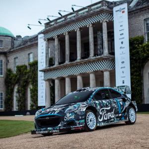 FORD and M-SPORT unveil the new Puma Rally 1 WRC prototype at Goodwood