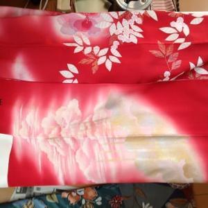 ママ振りかぶり直しあがり~紬着物から名古屋帯作ります~