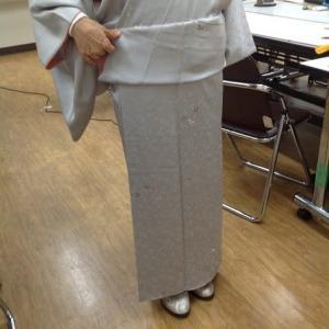 縫いつけおはしょり着物上手になってます~帯も始めます。
