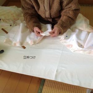 仕立て直し長襦袢・袷・男物浴衣に男物羽織もやっています~