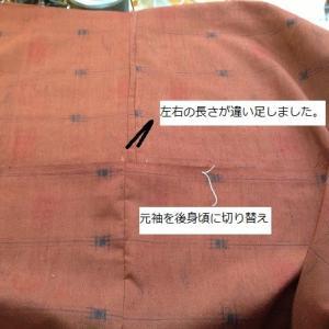 色掛け紬・布不足接ぎ方参考に&マル子さんもでます(=^・^=)