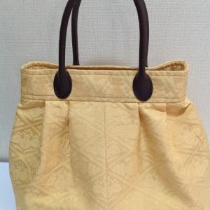 キルディングワンポイント&手提げ振袖切り取りからバッグ