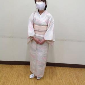単衣紬着用で授業に参加、紬袷袖作りを始めました~