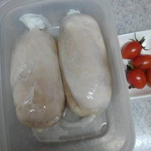 鶏ハムとアマニ油