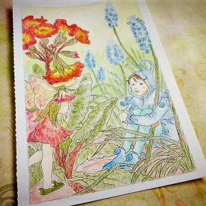 大人の塗り絵~庭の花の妖精編~