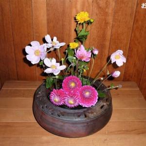 六番目の熟女さんが 「お花」を届けてくれました ♪