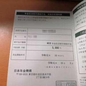 年金生活者支援給付金の支給決定通知書が届いた!