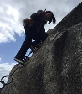 千光寺の鎖山に初チャレンジ