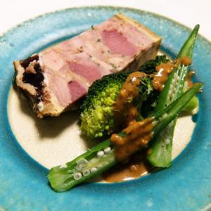 パテアンクルートと温野菜。