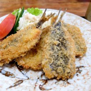 いわしフライ定食とコロッケ/鈴家食堂(愛西市)