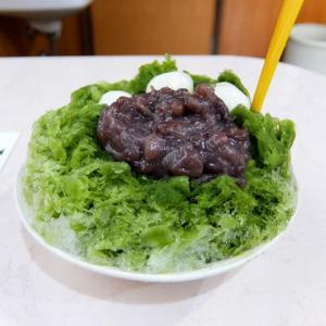 抹茶氷+あずき、白玉/若不老園(あま市)