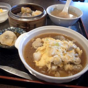 豆ホタテと玉子の海鮮ソース/香港飲茶 広東料理 航天(清須市)