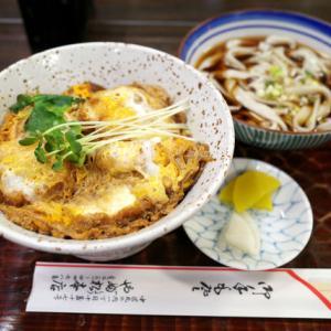お豆腐カツ丼とミニきしめん/やぶ松本店(中区丸の内)