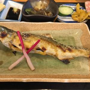 鮎の塩焼き定食/お食事処 歳(清須市)