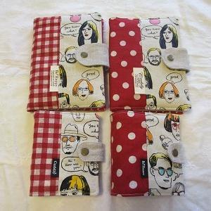 ファニーフェイス柄の母子手帳ケース&カードケース★
