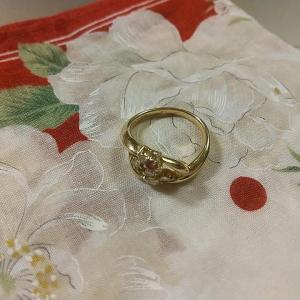 指輪を外しました