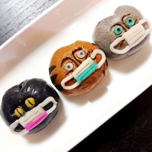 【飛騨高山のお土産】マスク姿の猫まんじゅう@稲豊園(とうほうえん)