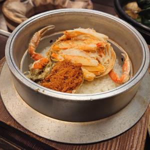 『福わ家』の季節限定の香箱蟹の釜飯@金沢