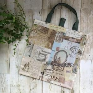 デコレクションズさんのヴィンテージペーパーを使った新作バッグ ☆彡