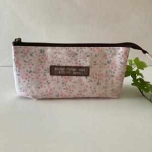 ピンク系小花柄Charmingでふたへやペンポーチ ☆彡