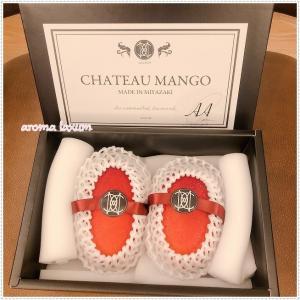 シャトーマンゴー頂きました。宮崎産 CHATEAU MANGO.2つで16200円って!!!!