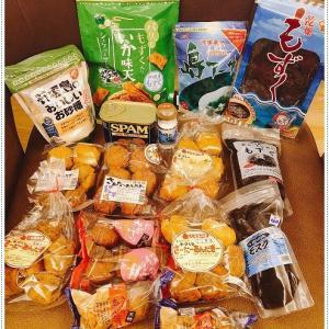 石垣島土産・サーターアンダギー・もずく・スパム・お砂糖・塩・いか天・・・などなど、買いすぎでしょ