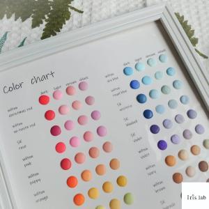 アイシングの色の作り方 くすみカラーについて