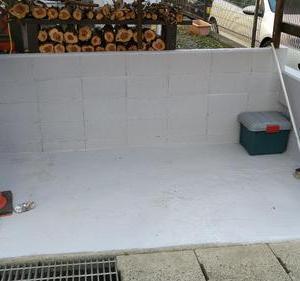 駐輪場コンクリート塗装/雑記
