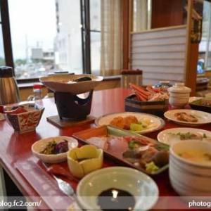 島根県 松江市 美保関 福間館 夕食 和食 かに料理 海鮮 刺身 美味い 宿泊予約