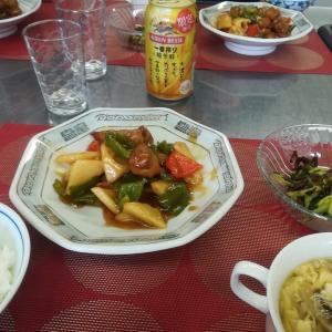缶ビールで黒須の酢豚&中華街で汁なし牛バラそば