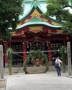 夏越の大払い 船場・御霊神社の茅の輪くぐり