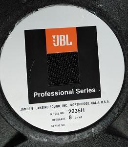 JBL 38cmウーハーユニット 2235Hの改造記(1)