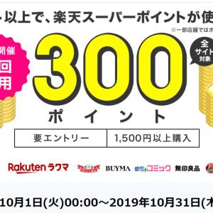 楽天ペイ(オンライン決済)、初回利用で300ポイント貰えます!!