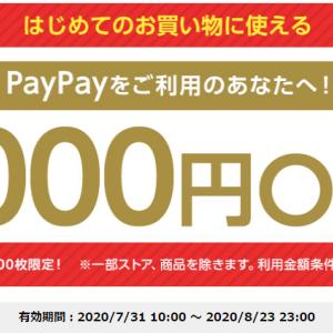 Yahoo!ショッピング、2100円以上の購入で使える1000円OFFクーポンまた出てます!! 【はじめてor久しぶり限定】