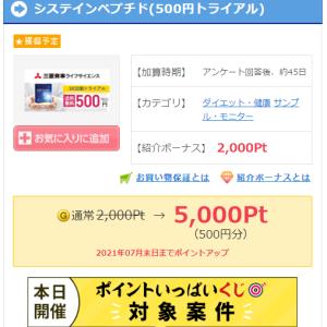 システインペプチド(500円トライアル)が、実質無料でゲットできます!!