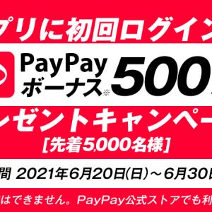 間に合うかな? オッズパーク、アプリ初回ログインで、先着5000名にPayPayボーナス500円相当をプレゼント!! 6/30まで。