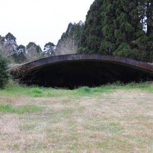 新田原陸軍飛行場跡に残る掩体壕