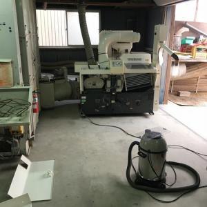 籾摺り作業のラインの組み立て!