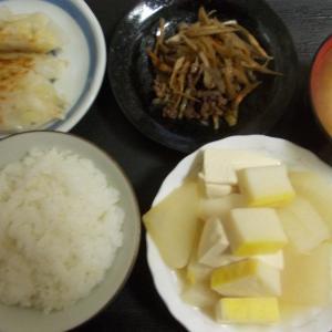 大根と豆腐の柚子味噌煮  牛肉とごぼうのしぐれ煮