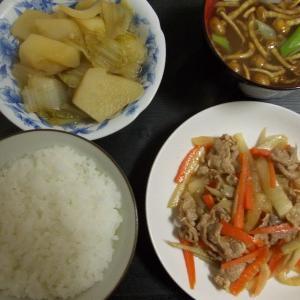 じゃがいもと白菜の旨煮 野菜と豚小間の生姜炒め