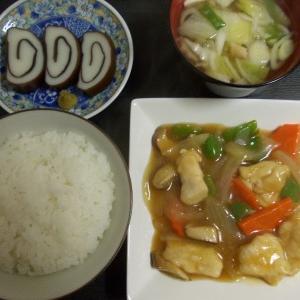 黒酢入り酢鶏  ナポリタン