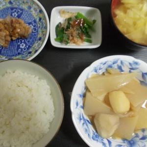 里芋と蒟蒻の田楽  豚汁