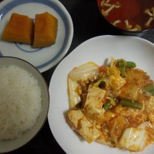 豆腐と野菜のミートソース炒め