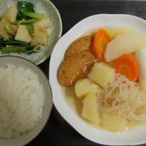 蕪と小松菜とえのきの炒め物