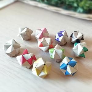 ユニット折り紙12枚*クラフト10色