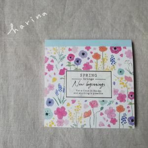 ユニット折り紙*ダイソー 花柄メモパッド
