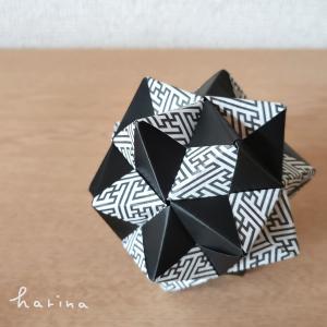 ユニット折り紙*セリア デザインペーパー日本の文様*紗綾形