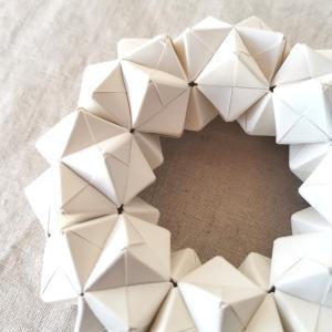 ユニット折り紙*無印ノートでリース型